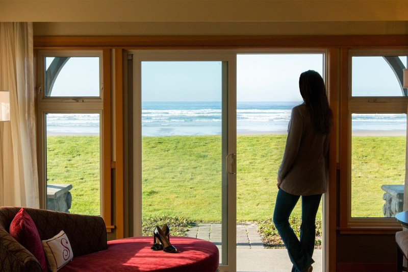 Oceanfront view in Cannon Beach, Oregon