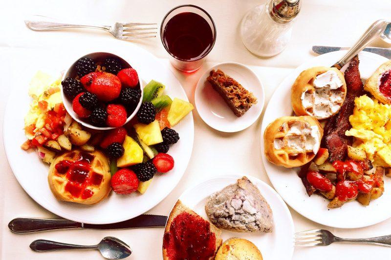 Breakfast plate at the Stephanie Inn