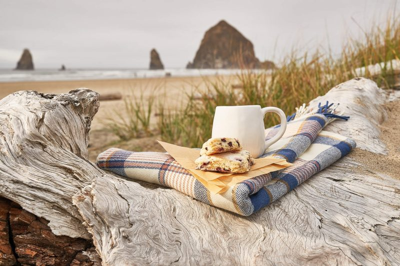 Breakfast picnic on the beach