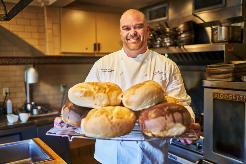 Stephanie Inn chef baking bread