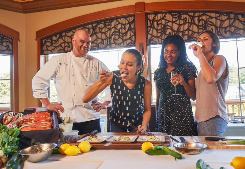 Chef Aaron and guests