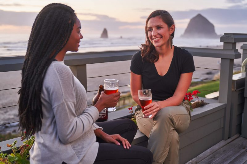 Drinks with your friends at the coast