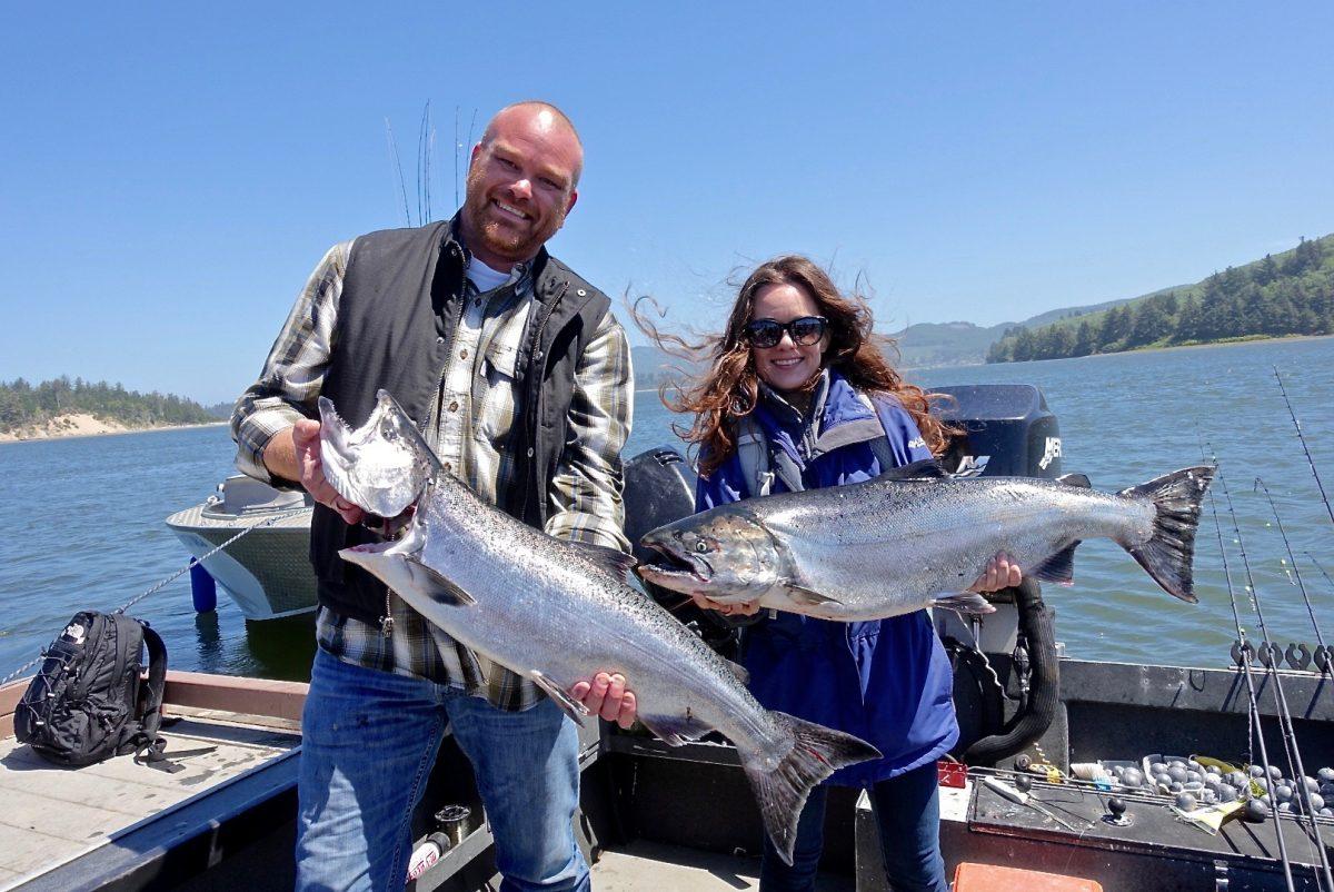 Stephanie Inn Chef Aaron Bedard and expert angler guide David Johnson